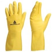 Luva de Proteção Latex Flocado Amarelo Tamanho 6