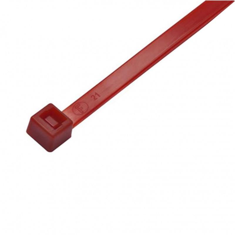 Abracadeira Nylon Ultra-violeta Vermelha 100 Pecas 397 X 7.60mm