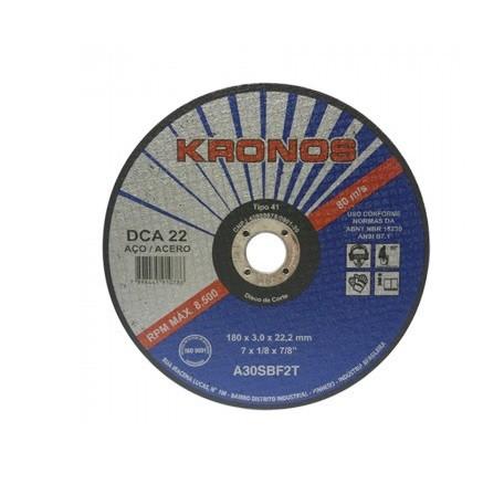 "Disco Corte Aco Carbono Dca 22 A30sbf2t 10"" X 1/8"" X 3/4"" 250 X 3.2 X 19.05mm"