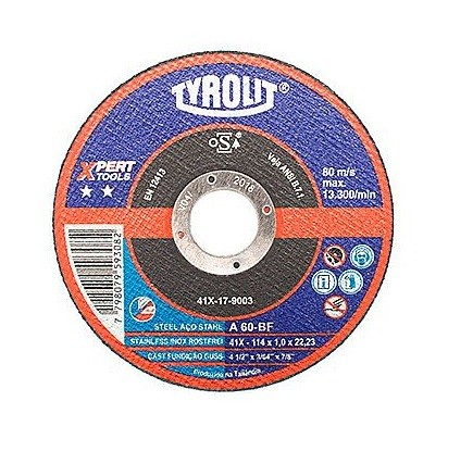 "Disco Corte Aco Inox Standard 4.1/2"" X 1 X 22.23mm"