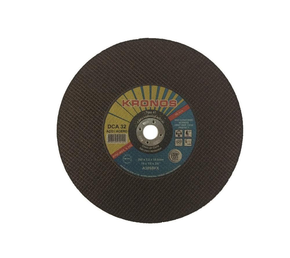 "Disco Corte Dca 32 A30sbfx 10"" X 1/8 X 3/4 250 X 3.2 X 19.0mm"