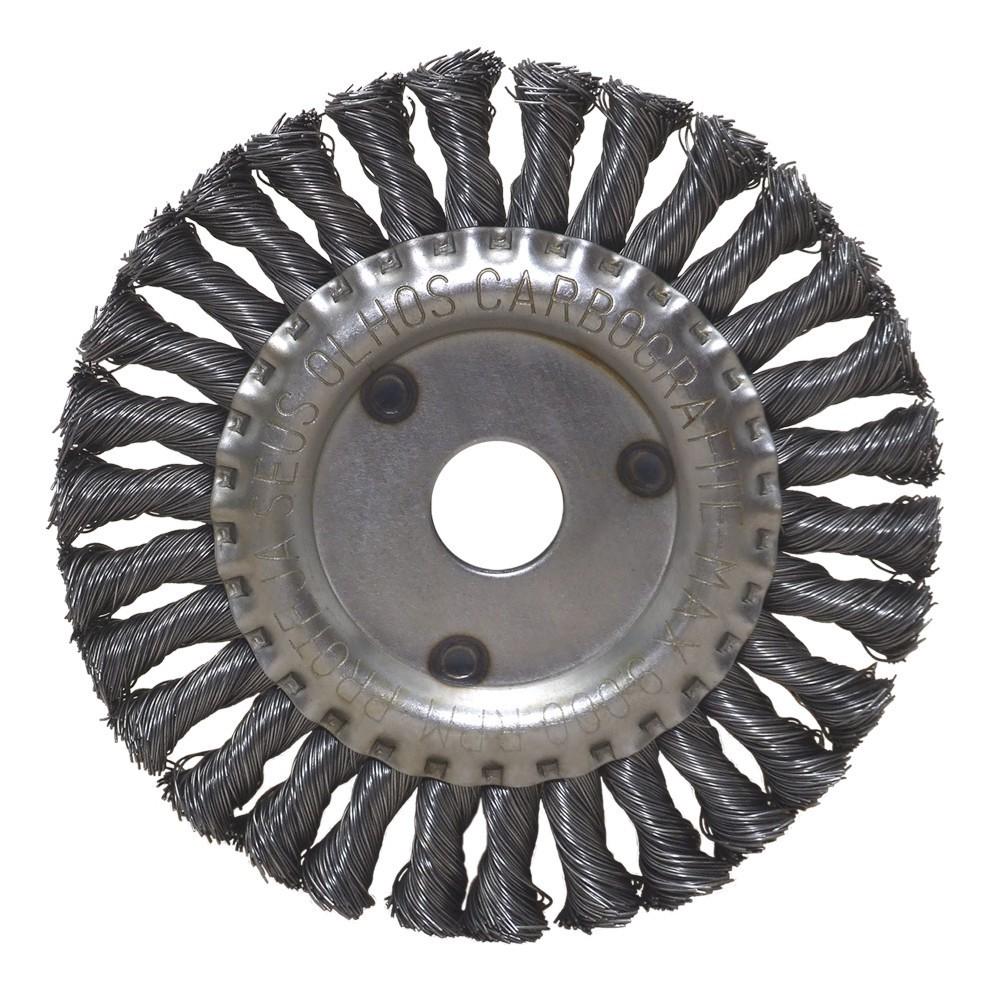 "Escova Circular Trancada Aco Carbono 6 X 1/4 X 7/8"""