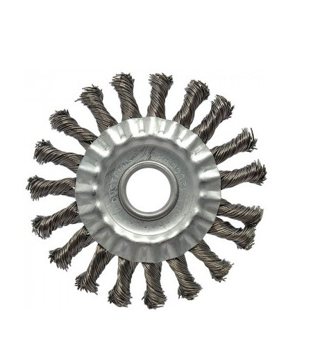 "Escova Circular Trancada Aco Inox 4.1/2"" X 1/4"" X 7/8"""
