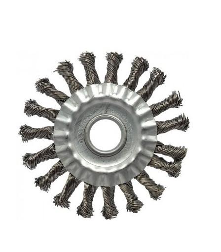 "Escova Circular Trancada Aco Inox 6"" X 1/2"" X 7/8"""