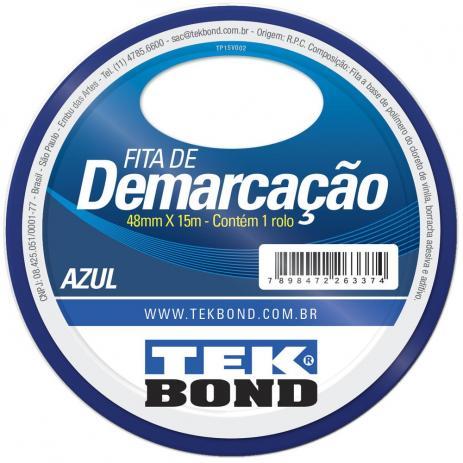 Fita Demarcacao Azul 48mm X 15m
