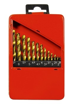 Jogo Broca Metal Titanio 13 Pecas 1.5mm A 6.5mm