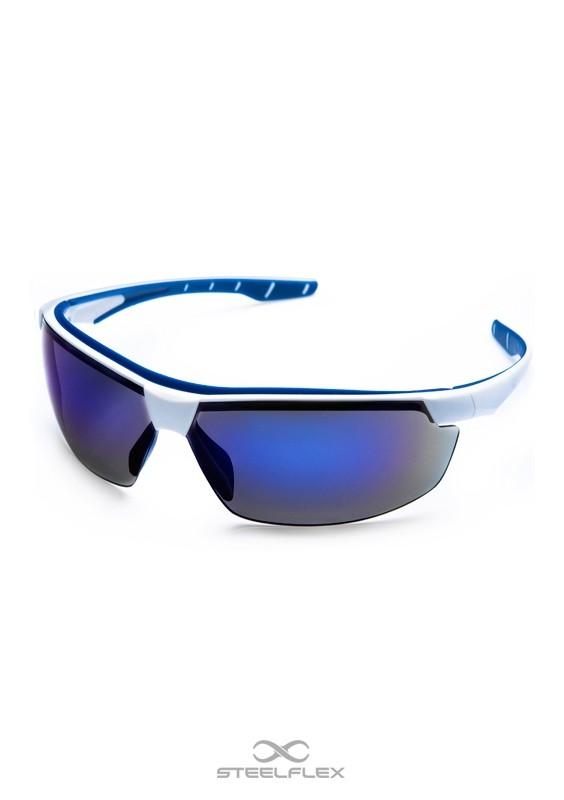 Óculos de Proteção Neon Azul Espelhado Esportivo