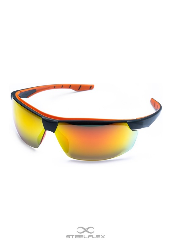 Óculos de Proteção Neon Vermelho Espelhado