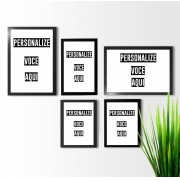 kit 3 quadros decorativos Personalize Você