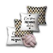 KIT 4 CAPAS DE ALMOFADAS PREMIUM + 1 NÓ ELE E ELA