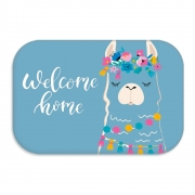 TAPETE DECORATIVO WELCOME LHAMA