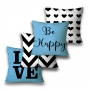 KIT 4 CAPAS DE ALMOFADAS PREMIUM BLUE LOVE