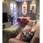 PROJETO RESIDENCIAL I - Kit 4 capas de almofadas  geométrica+ 2 Quadros decorativos animais