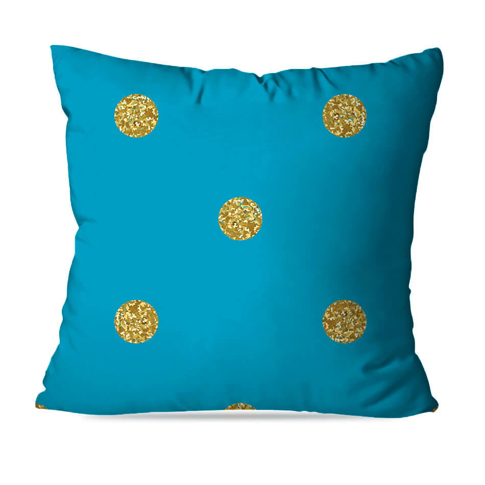 ALMOFADA OU CAPA BLUE GOLD 4
