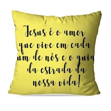 ALMOFADA OU CAPA FRASES JESUS GUIA