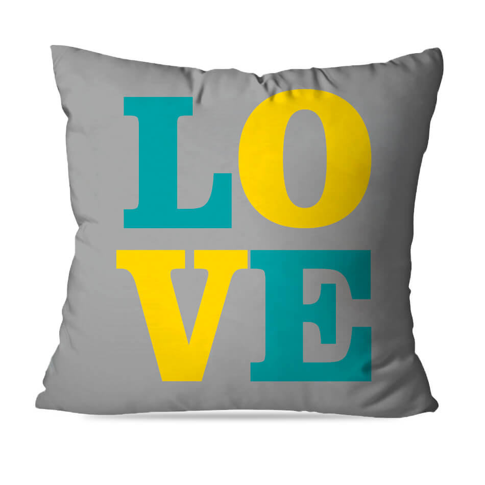 ALMOFADA OU CAPA LOVE YELLOW 1