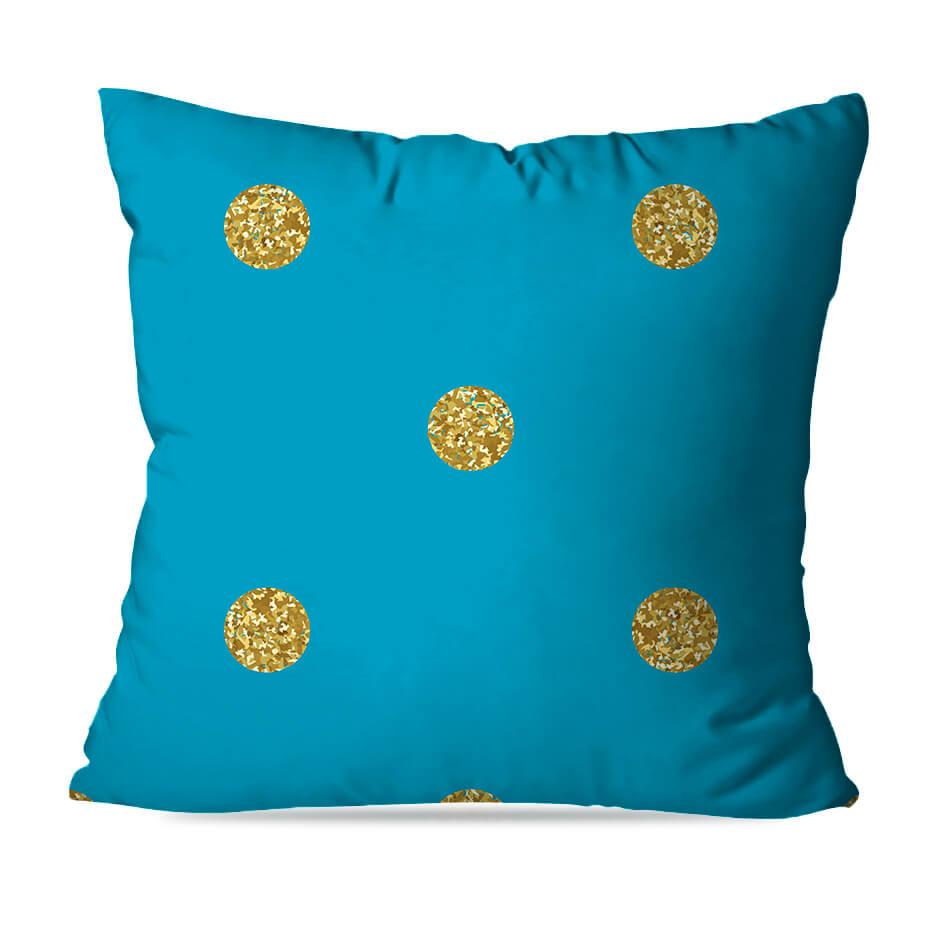 KIT 4 ALMOFADAS OU CAPAS BLUE GOLD
