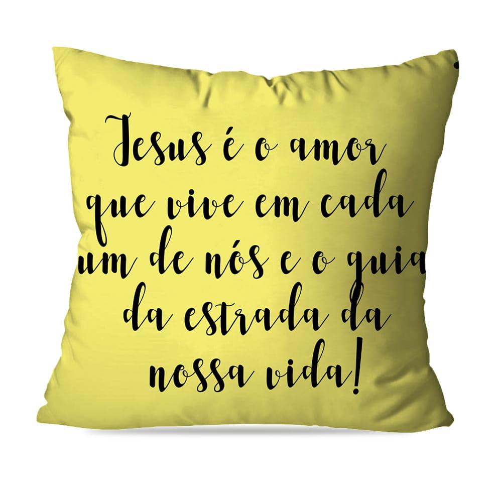 KIT 4 CAPAS DE ALMOFADAS AMARELA JESUS