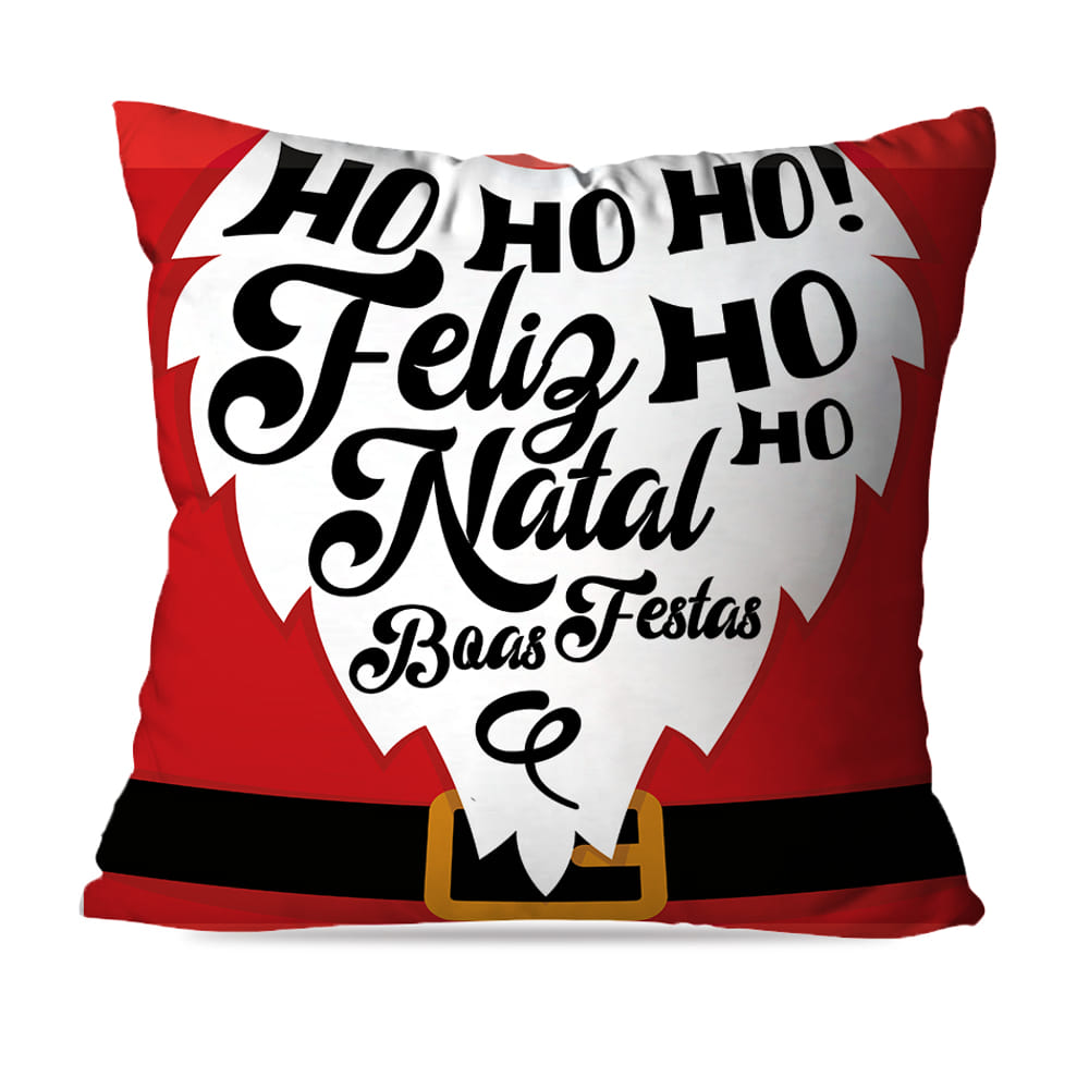 KIT 4 CAPAS DE ALMOFADAS DE NATAL HOHOHO