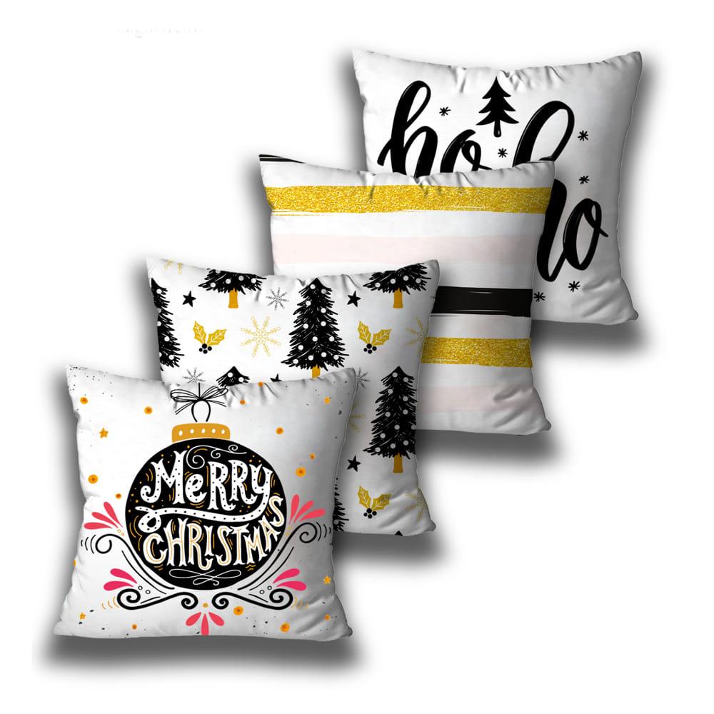 KIT 4 CAPAS DE ALMOFADAS DE NATAL MERRY CHRISTMAS