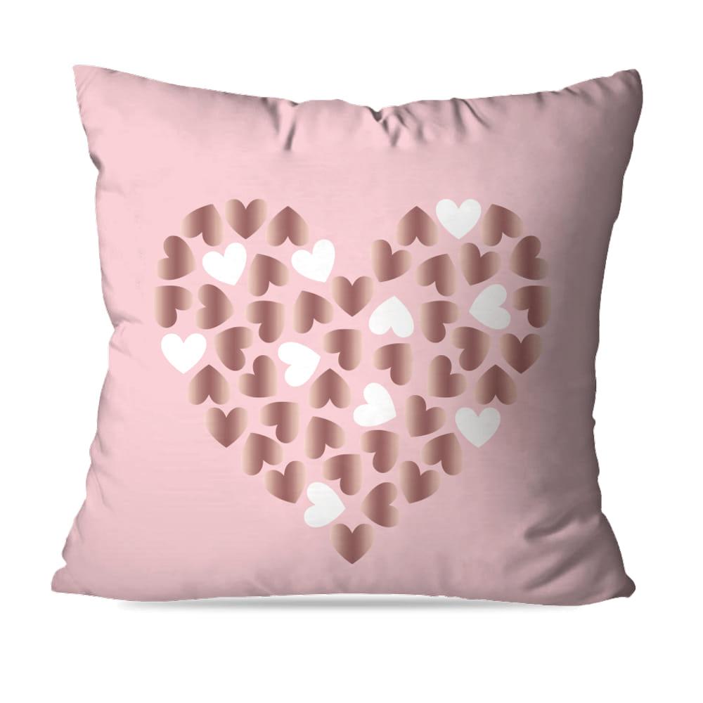 KIT 4 CAPAS DE ALMOFADAS PREMIUM LOVE HEART