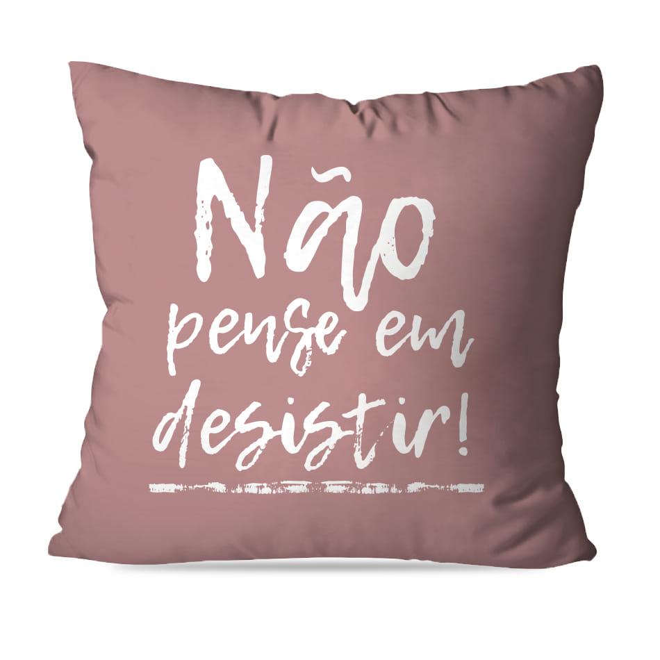 KIT 4 CAPAS DE ALMOFADAS PREMIUM NÃO DESISTA