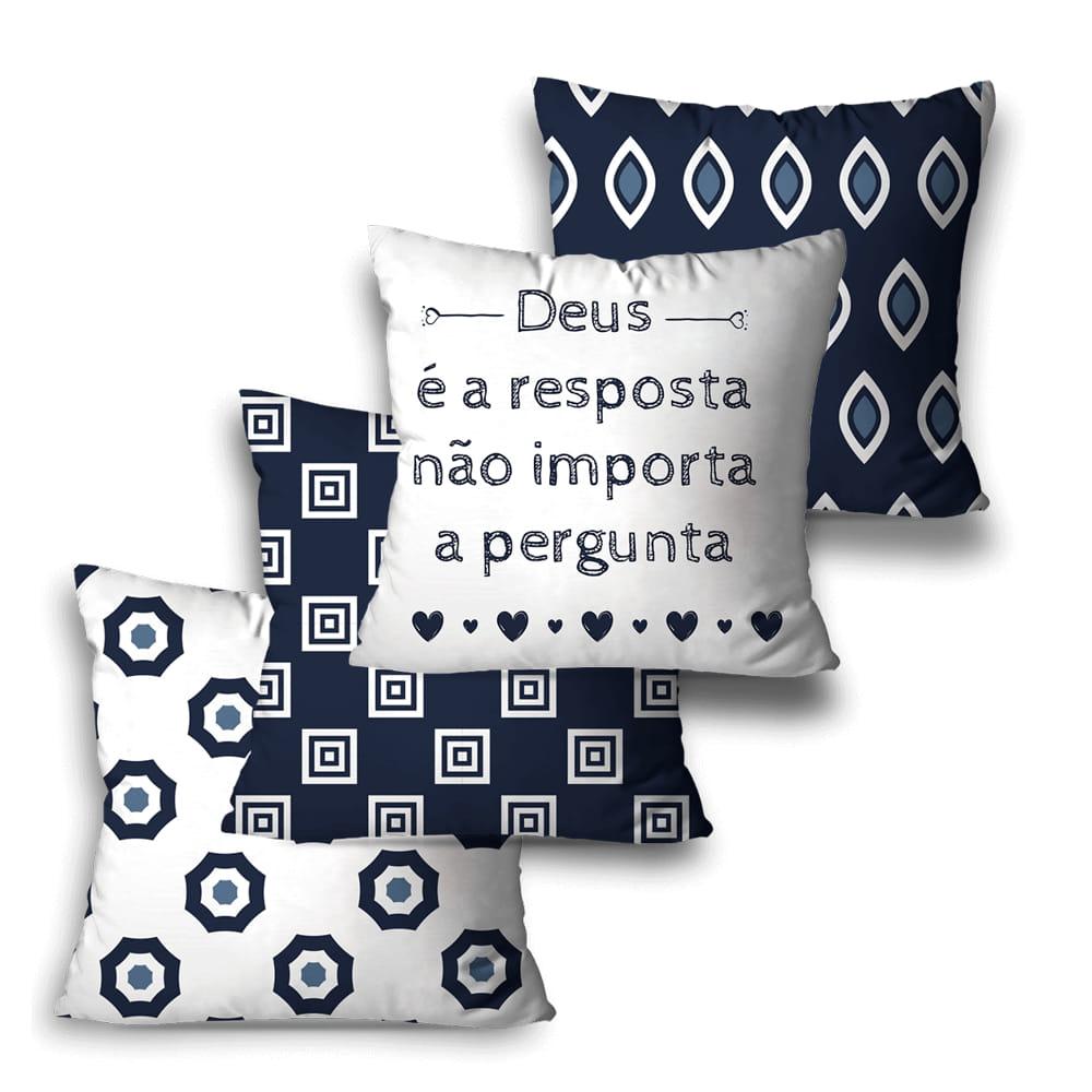 KIT 4 CAPAS DE ALMOFADAS PREMIUM RESPOSTA