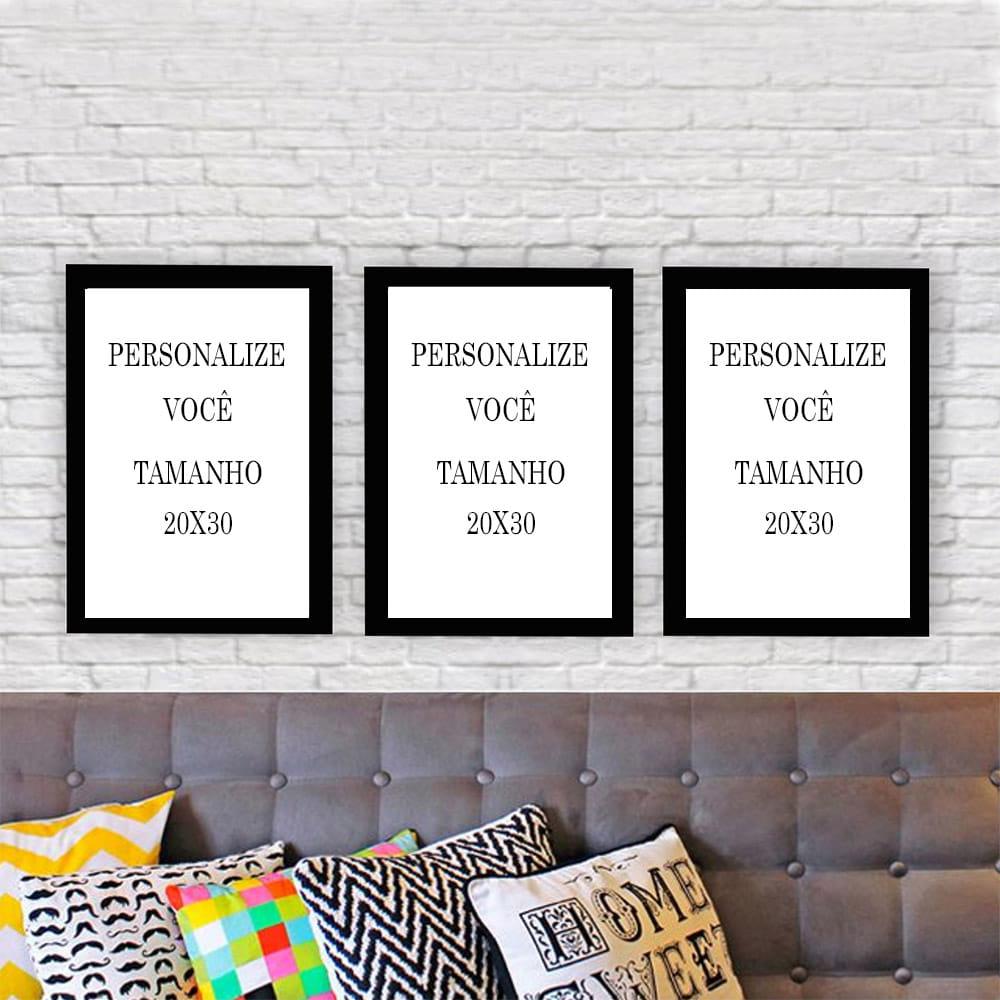 PROJETO EMPRESARIAL - ESMALTERIA - Kit 3 quadros  decorativos 20x30