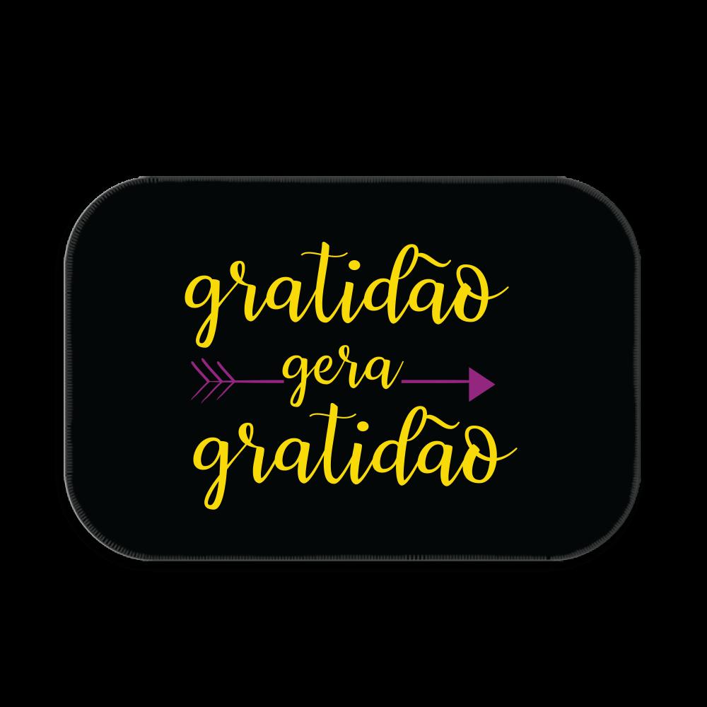 TAPETE DECORATIVO GRATIDÃO GERA GRATIDÃO