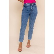 CALÇA JEANS CROPPED MOM JACKE