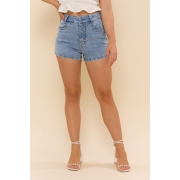 SHORTS JEANS HOT PANT MABEL - JEANS CLARO