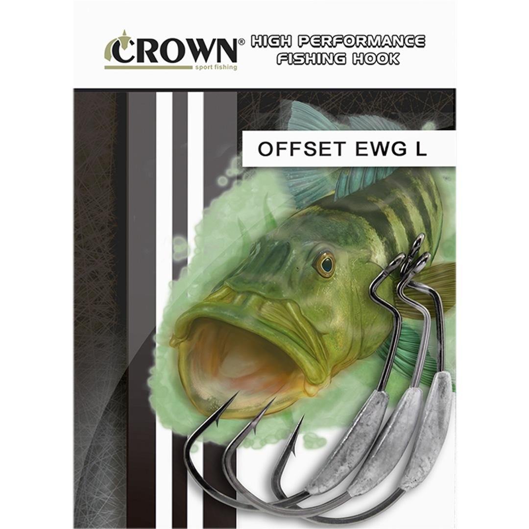 Anzol Crown EWG offset Lastreado 4/0 - c/ 5 unidades