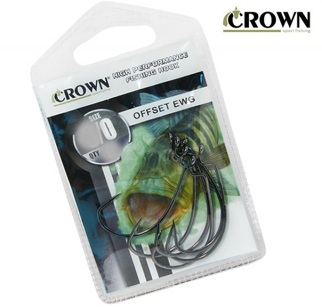 Anzol Offset EWG Black 05 unids - Crown