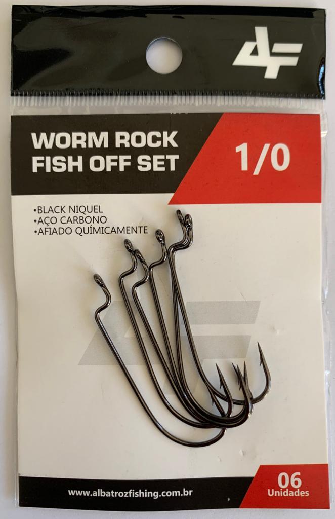 Anzol Worm Rock Fish Offset - Albatroz Fishing