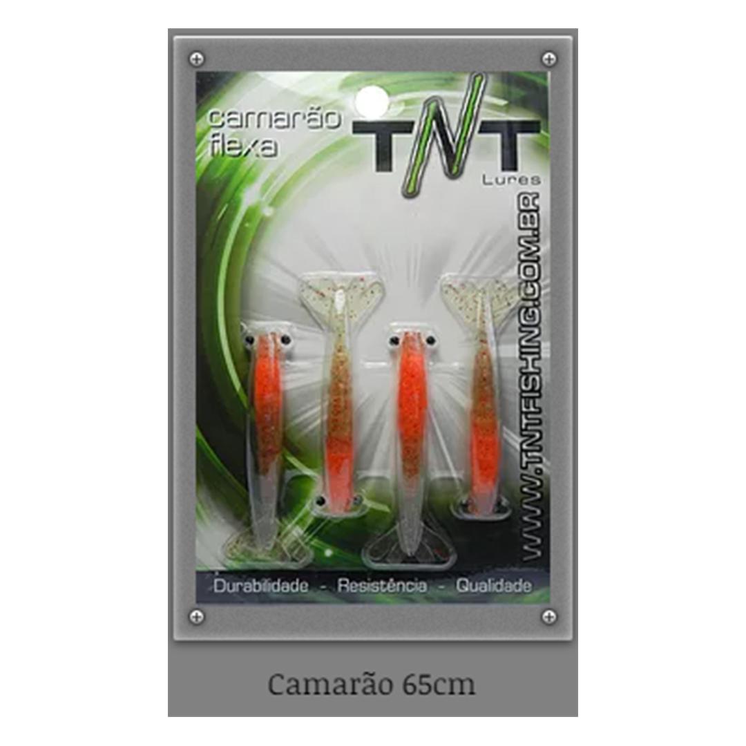 Camarão artificial Flexa TNT - 6,5 cm blister c/ 04 unidades