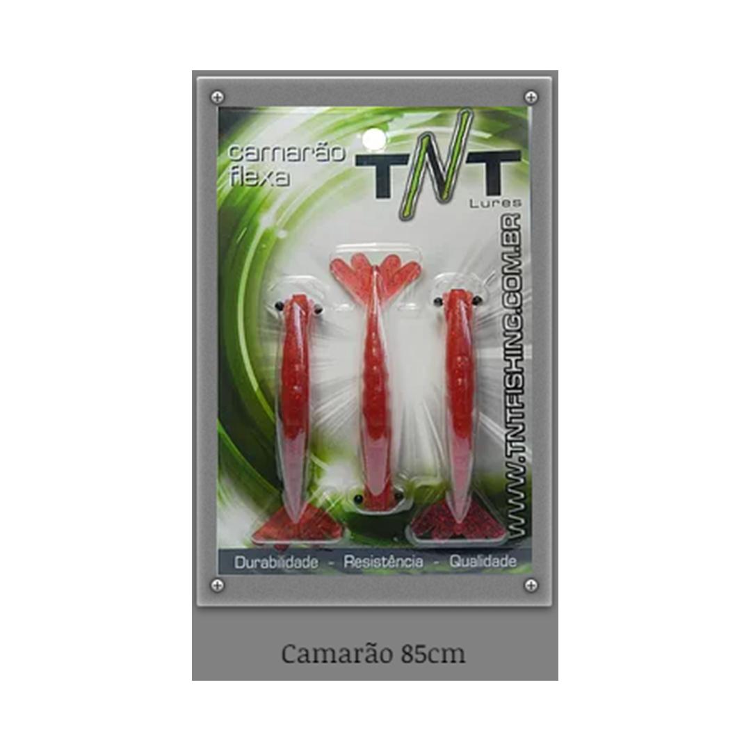 Camarão artificial Flexa TNT - 8,5 cm blister c/ 03 unidades