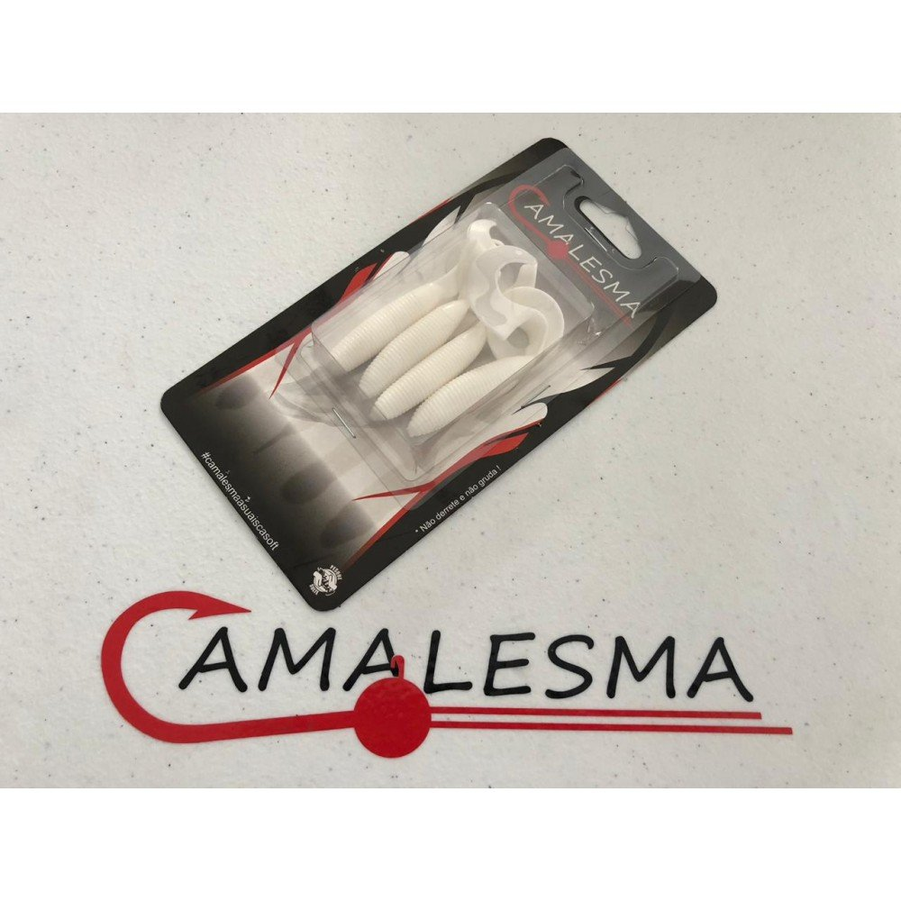 Isca Soft Grub Single Tail - Camalesma 8CM 4 unid.