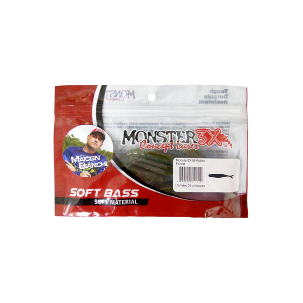 Isca Soft M-Action - Monster 3X 10,5cm 3unid.