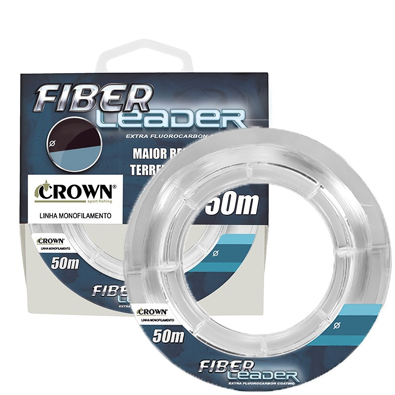 Linha Fiber Leader Fluorcarbon 50 mts - Crown
