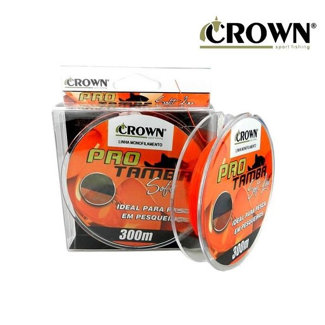 Linha Monofilamento Pró Tamba Soft Line 300m Orange - Crown