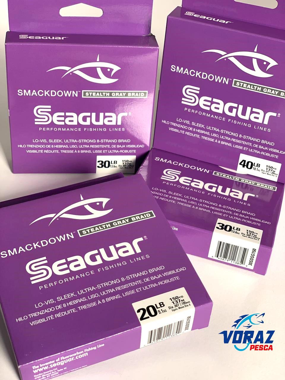 Linha Multifilamento Smackdown 8 fios Stealth Gray Braid - Seaguar