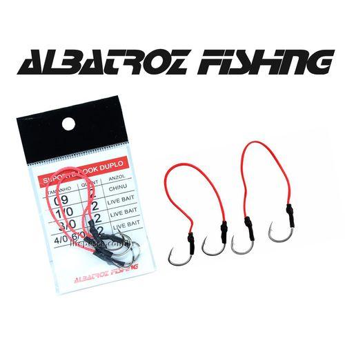 Suporte Hook Duplo  Live Bait - Albatroz Fishing