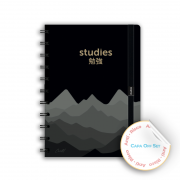 Caderno Studies Golden Black