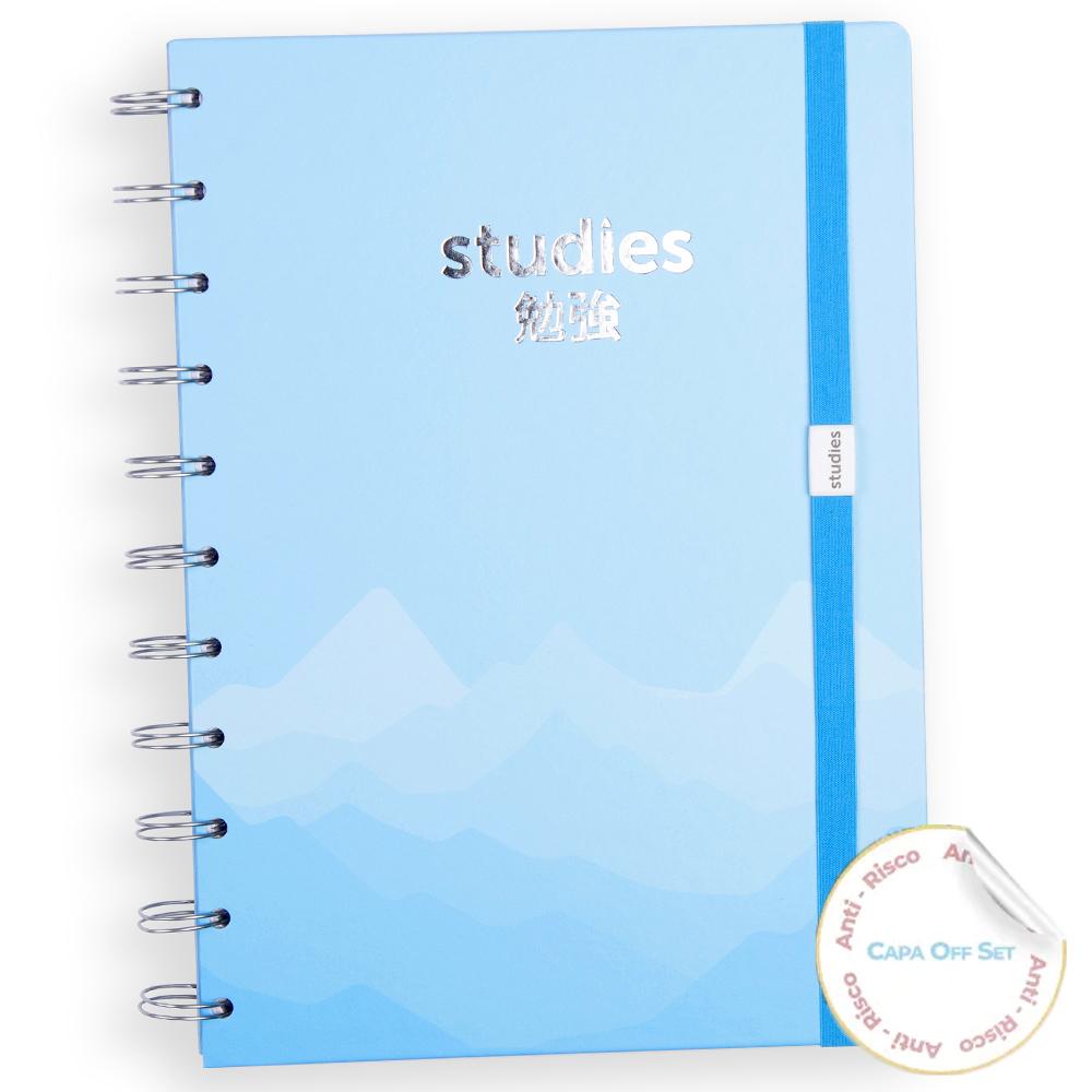 Caderno Studies Silver Blue