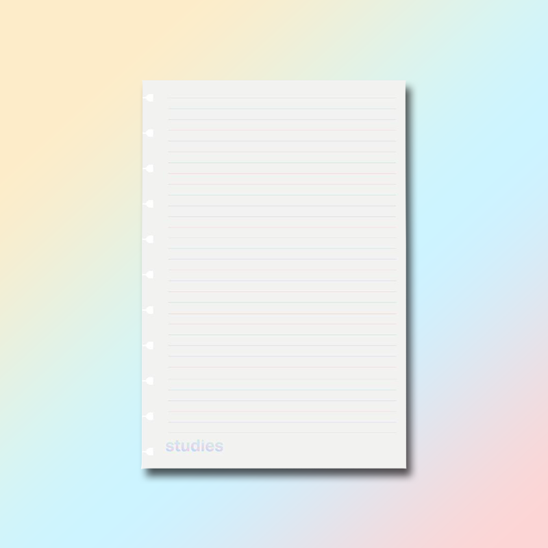 Refil Studies Pro Rainbow Pautado