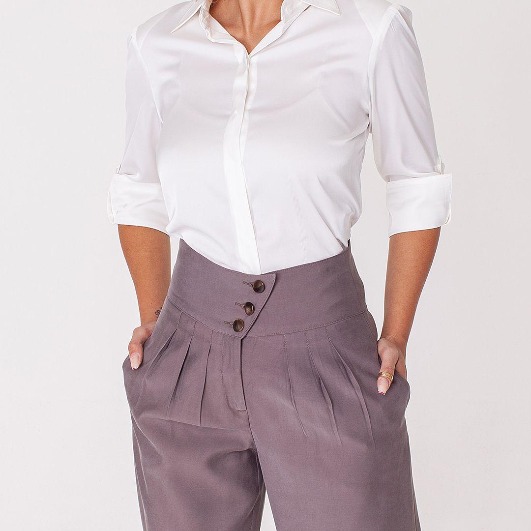 Calça Pantalona Tencel