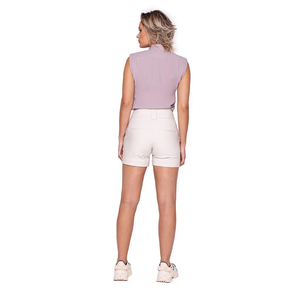 Shorts Sarja com Barra Italiana