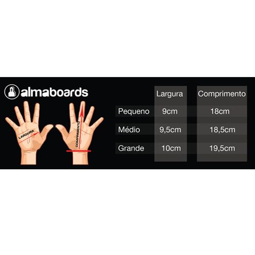 Luva para downhill skate Alma boards - 100% COURO PRO