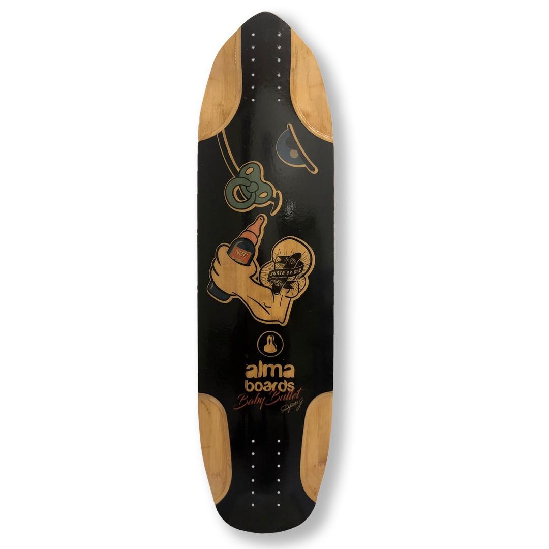 Shape Longboard Alma Baby Bullet - 100% bambu