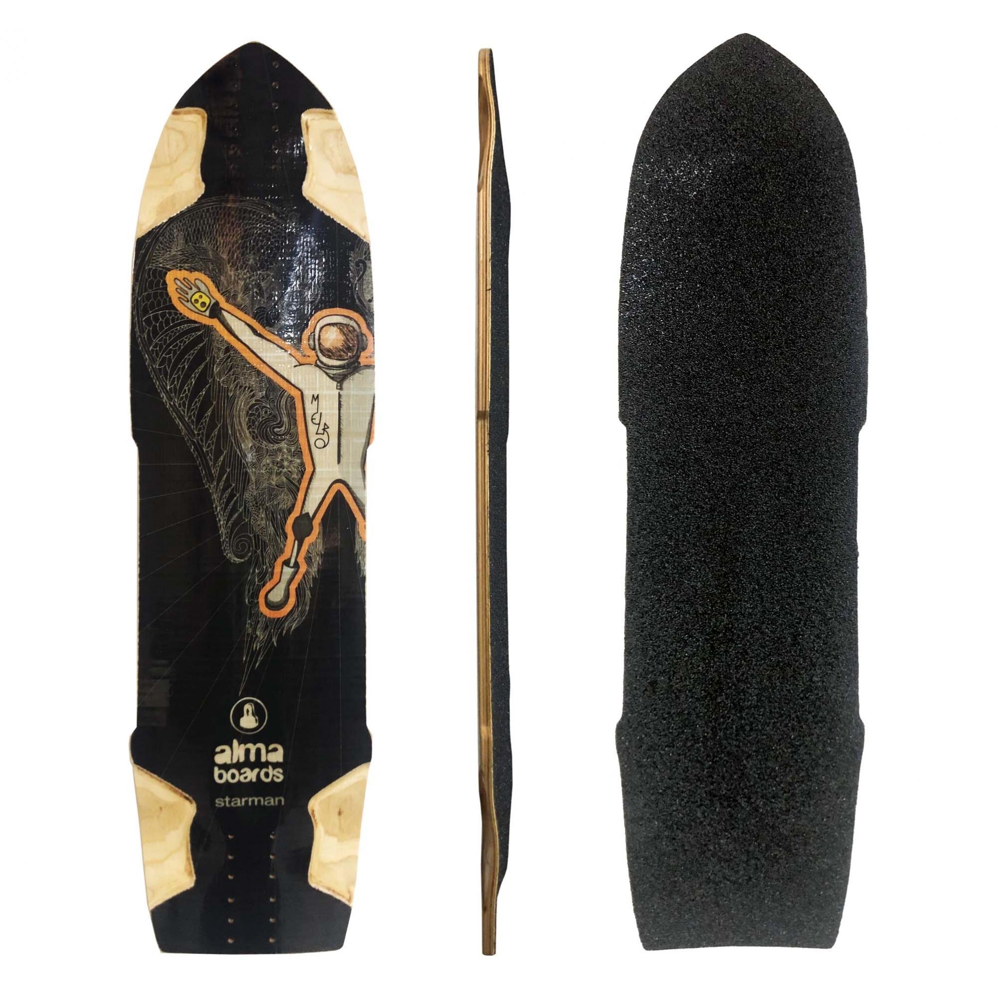 "Shape Longboard Alma Starman 35"" - Marfim"